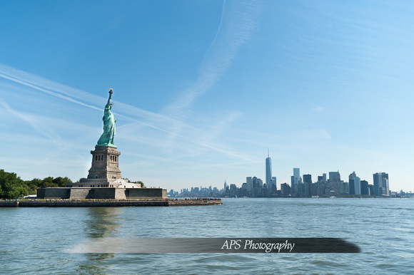 The Statue of Liberty and NYC